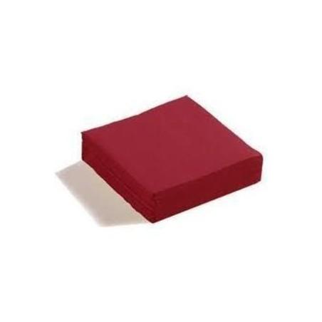 HANDTUCH BORDEAUX Wegwerfpapier 38 x 38 cm 2 Dicken - die Tasche 50