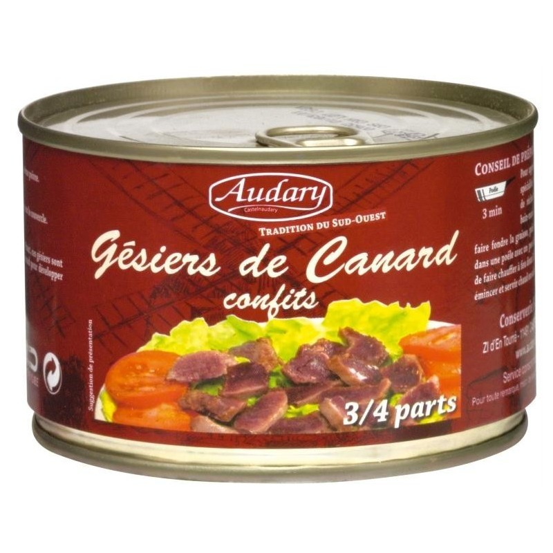 Duck confit gizzards - box 385 g
