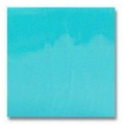 cóctel TOALLA Papel desechable TURQUOISE 20 x 20 cm 2 espesores punto-dual la bolsita 100