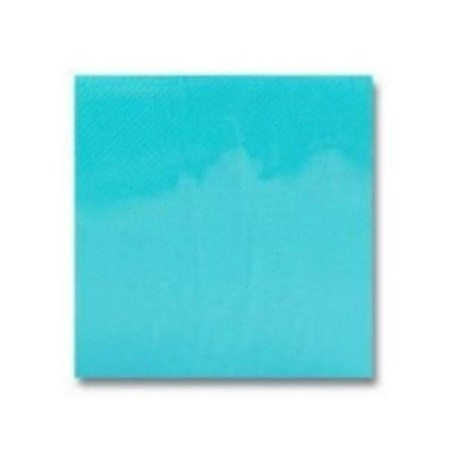 Cocktail towel TURQUOISE BLUE in disposable paper 20 x 20 cm 2 thickness double point- the bag of 100