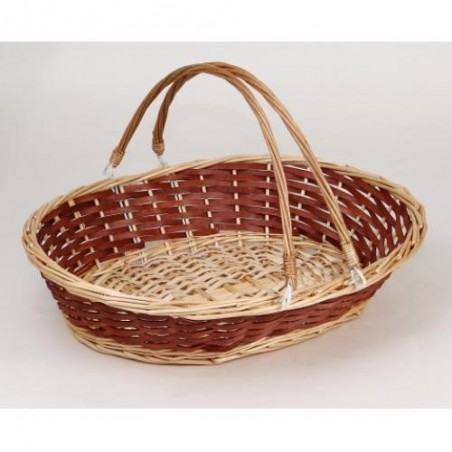 BASKET -Florence W- peeled wood