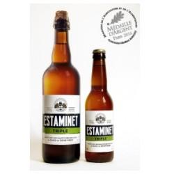 Bier ESTAMINET Französisch Triple 7 ° 33 cl