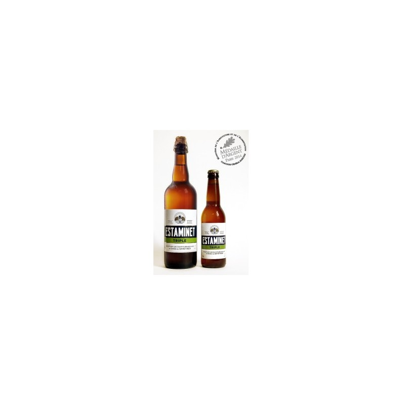 Cerveza ESTAMINET francés Triple 7 ° 33 cl