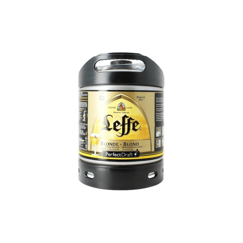 Beer LEFFE Blonde Belge 6.6 ° drum of 6 L for Perfect Draft machine of Philips (7.10 EUR of deposit included in the price)