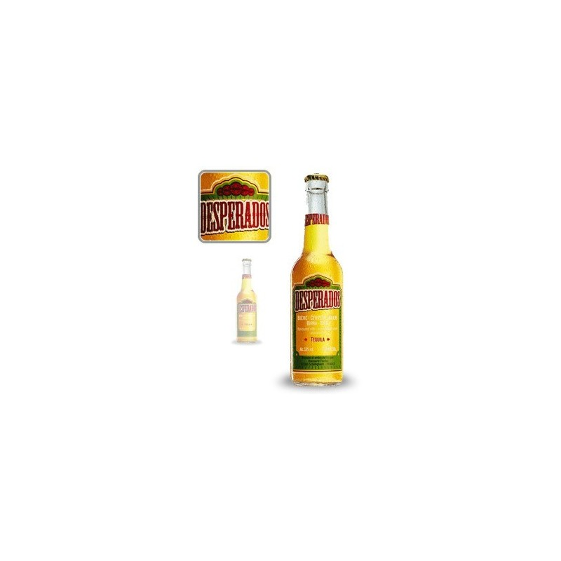 Cerveza rubia francesa DESPERADOS 5.9 ° 33 cl