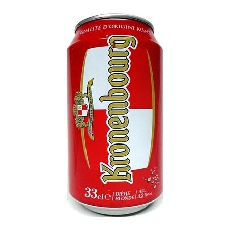Beer KRONENBOURG Rubia 4.5 ° caja de metal francés 33 cl