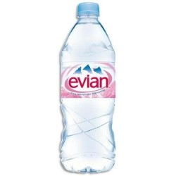 EVIAN Wasser Kunststoffflasche PET 1 L