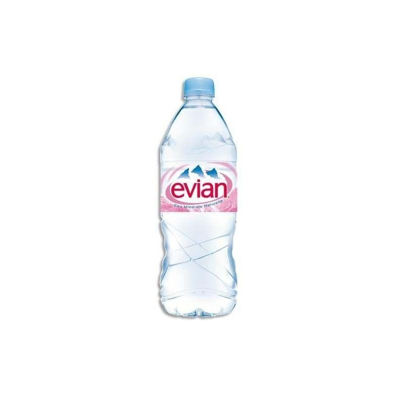 Water EVIAN Plastic bottle PET 1 L