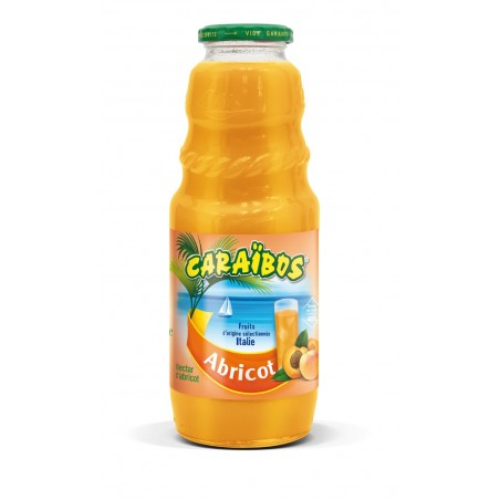 Juice Nectar of Apricot CARAIBOS glass jar 1 L