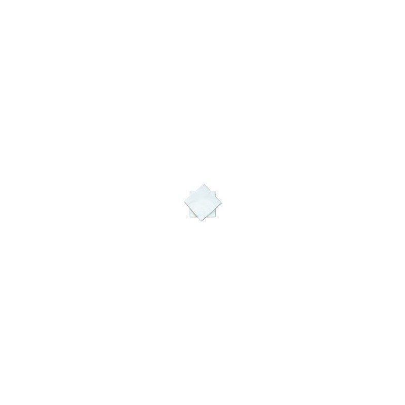 Toalla blanca Cóctel con micro-punto de papel desechable 2 capas / grosor 20x20 cm - el 100