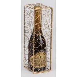 COFFRET -Peggy- Métal Doré 1 bouteille Champagne