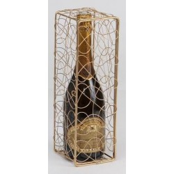 CAJA -Peggy- de metal Dore para 1 botella de Champagne