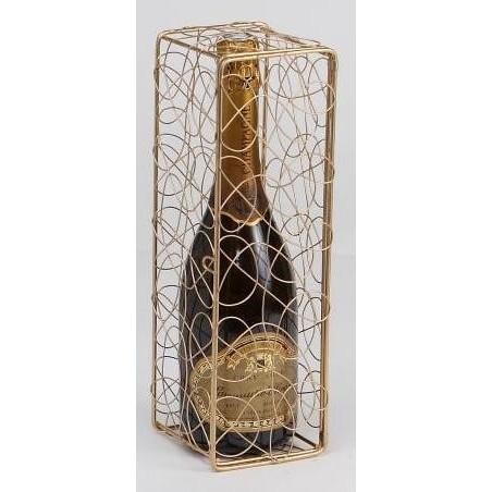 SCATOLA -Peggy- metallo Dorè   per 1 bottiglia di Champagne