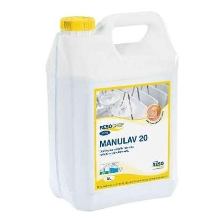 Lave vaisselle Manulav 20 pour plonge manuelle - bidon 5 L