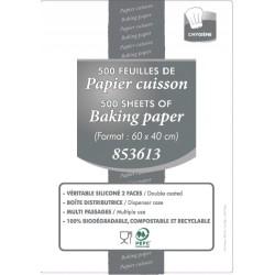 Papier Cuisson Silicone double face 60 cm x 40 cm - Boîte distributrice de 500 feuilles