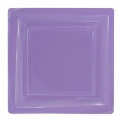 Piastra quadrata lilla 18x18 cm plastica usa e getta - il 12