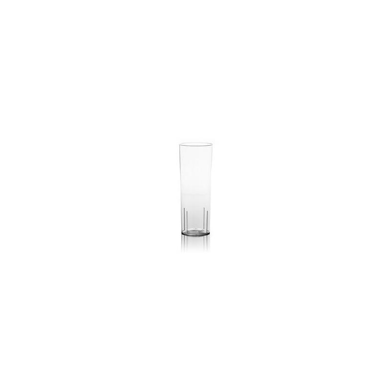 Verre tube transparent en cristal injecté 30 cl - les 10