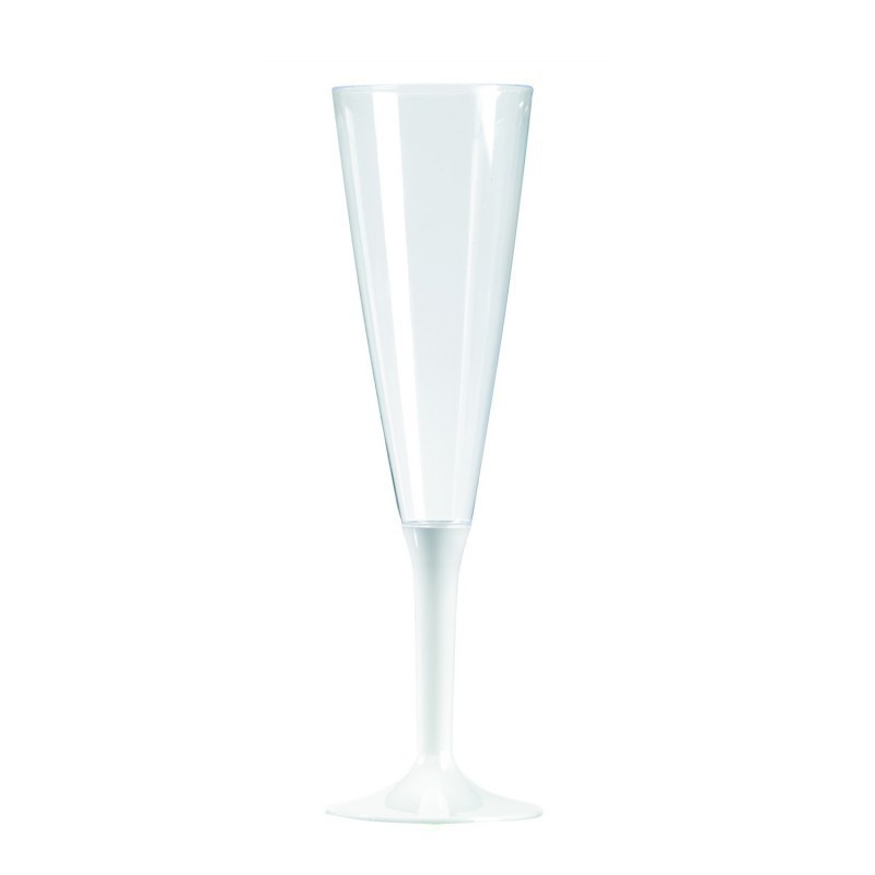 Champagne Flute Plastic foot white 15 cl - 10