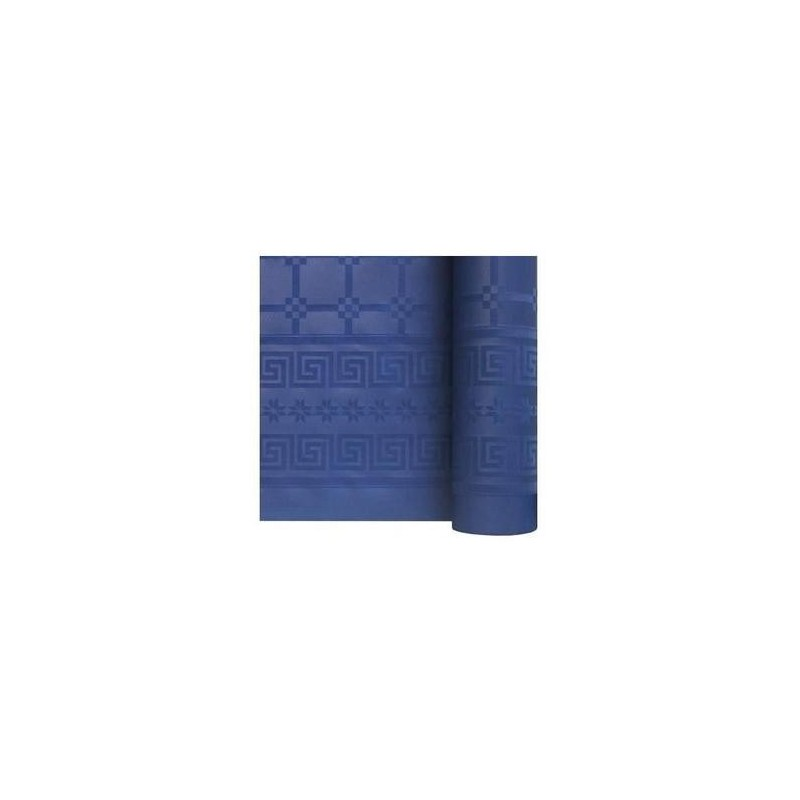 Tablecloth Navy blue in damask paper width 1.20 m - the 25 m roll