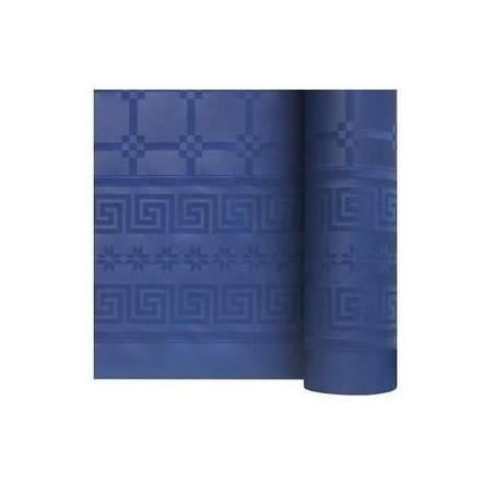 mantel Azul marino en papel damasco ancho 1,20 m - el rollo de 25 m