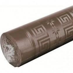 mantel chocolate en papel damasco ancho 1,20 m - el rollo de 25 m