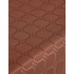 Tablecloth Chocolate in damask paper width 1.20 m - the 25 m roll
