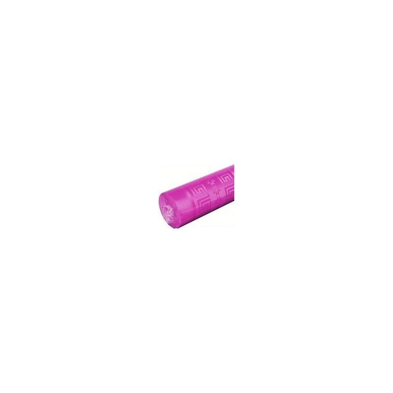 Tablecloth Fuchsia in damask paper width 1.20 m - the 25 m roll