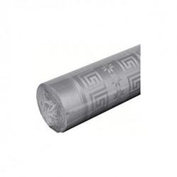 Nappe Grise en papier damassé largeur 1,20 m - le rouleau de 25 m