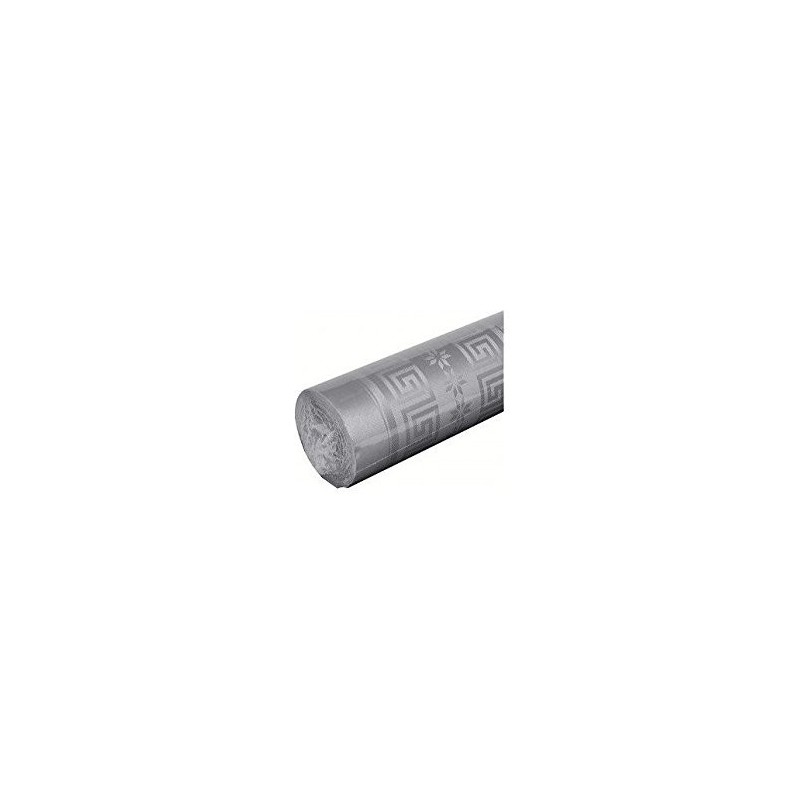 Gray Tablecloth in damask paper width 1.20 m - the 25 m roll