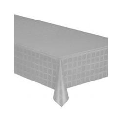 Graue Tischdecke in Damast Papierbreite 1,20 m - die 25 m Rolle