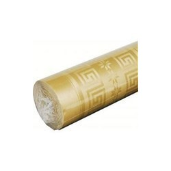 Gold Tablecloth in damask paper width 1.20 m - the 25 m roll