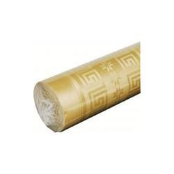 Nappe Or en papier damassé largeur 1,20 m - le rouleau de 20 m