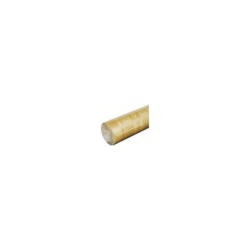 Nappe Or en papier damassé largeur 1,20 m - le rouleau de 25 m