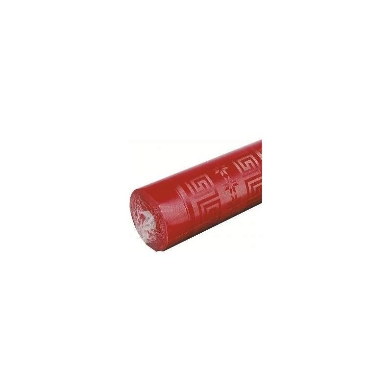 Tovaglia rossa nella larghezza della carta da damasco 1,20 m - il rotolo da 25 m