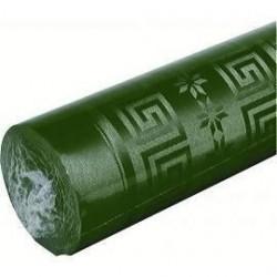 Abeto verde del mantel en papel damasco ancho 1,20 m - el rollo de 25 m