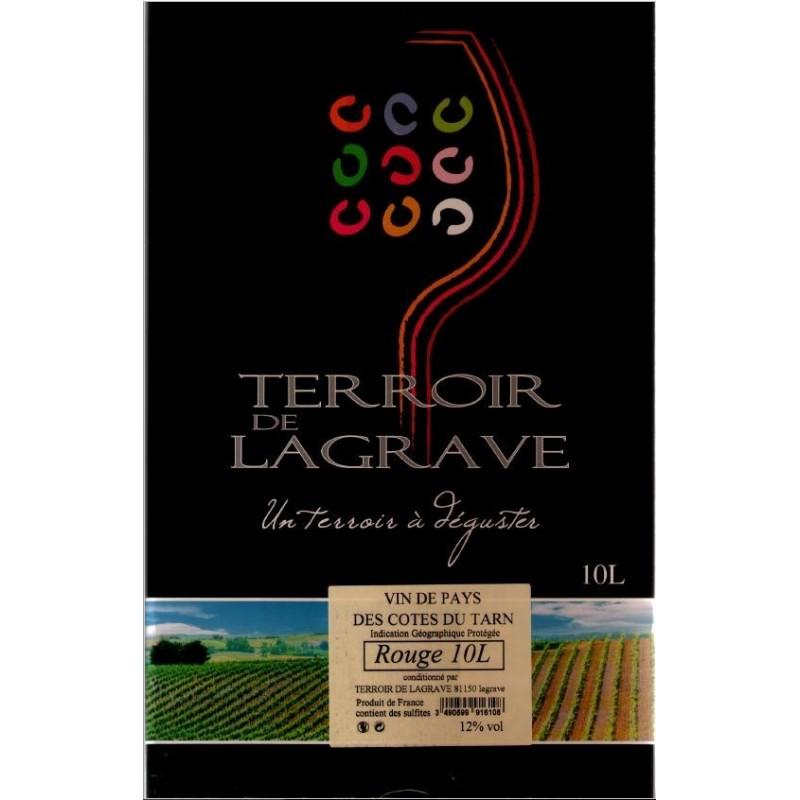 Terroir de Lagrave COTES DU TARN Vin Rouge VDP Fontaine à vin BIB 10 L