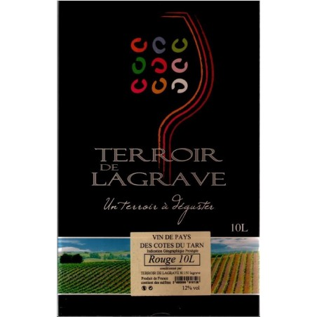 Terroir de Lagrave COTES DU TARN Vino rosso VDP Fontana di vino BIB 10 L