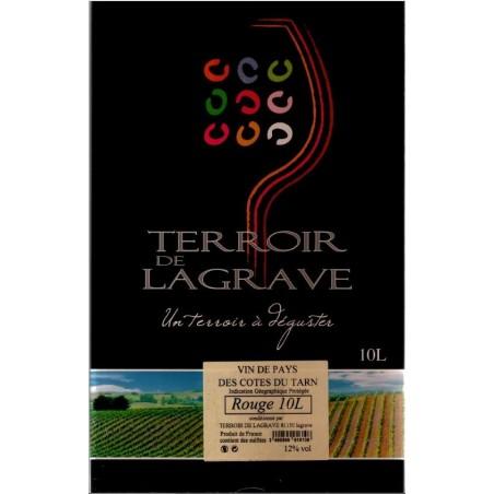 Terroir de Lagrave COTES DU TARN Vino tinto VDP Fuente de vino BIB 10 L