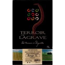 Terroir de Lagrave COTES DU TARN Vin Rouge VDP Fontaine à vin BIB 5 L
