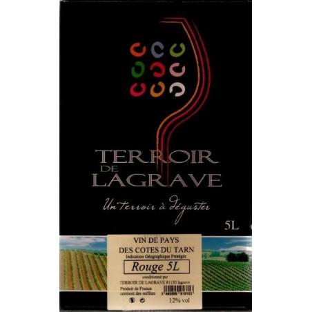 Terroir de Lagrave COTES DU TARN Vino tinto VDP Fuente de vino BIB 5 L