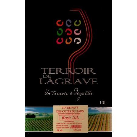 Terroir de Lagrave COTES DU TARN Vin Rosé VDP Fontaine à vin BIB 10 L