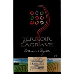 Terroir de Lagrave COTES DU TARN Vin Blanc VDP Fontaine à vin BIB 10 L