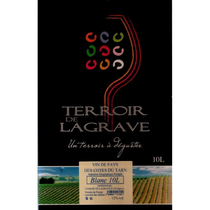 Terroir de Lagrave COTES DU TARN Vino blanco VDP Fuente de vino BIB 10 L