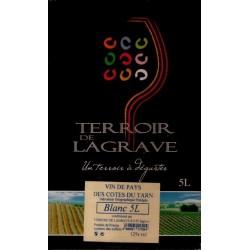 Terroir de Lagrave COTES DU TARN Vin Blanc VDP Fontaine à vin BIB 5 L