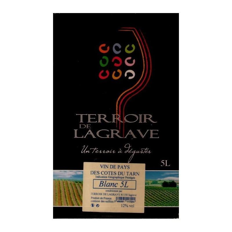 Terroir de Lagrave COTES DU TARN White Wine VDP Wine Fountain BIB 5 L