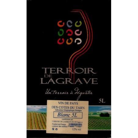 Terroir de Lagrave COTES DU TARN Vino Blanco VDP Fuente de Vino BIB 5 L