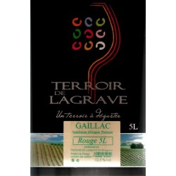 Terroir de Lagrave GAILLAC Vin Rouge AOC Fontaine à vin BIB 5 L