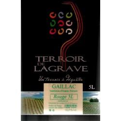 Terroir de Lagrave GAILLAC Vino Rosso AOC Fontana BIB 5 L