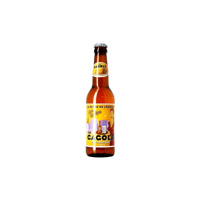 Beer LA CAGOLE DE MARSEILLE Blond France 5.5 ° 33 cl