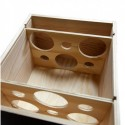 WOODEN BOX for 6 bottles Burgundy format with lid to nail and guillotines inside, 2 x 3
